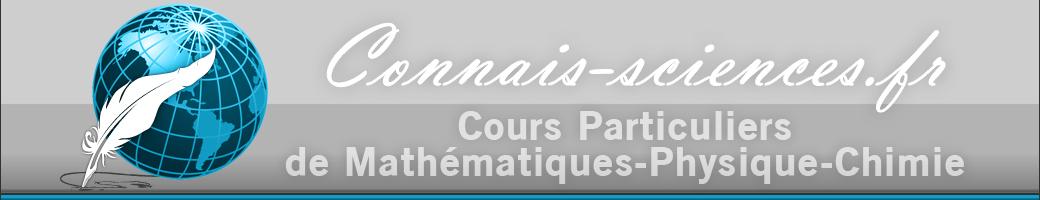 Connais-sciences.fr – Cours Particuliers de Mathématiques et de Physique-Chimie à domicile (Drôme) et à distance Logo